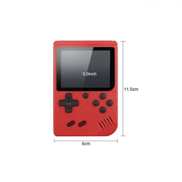 8 Bit retro handheld game console with 400 built-in games - Dimensions