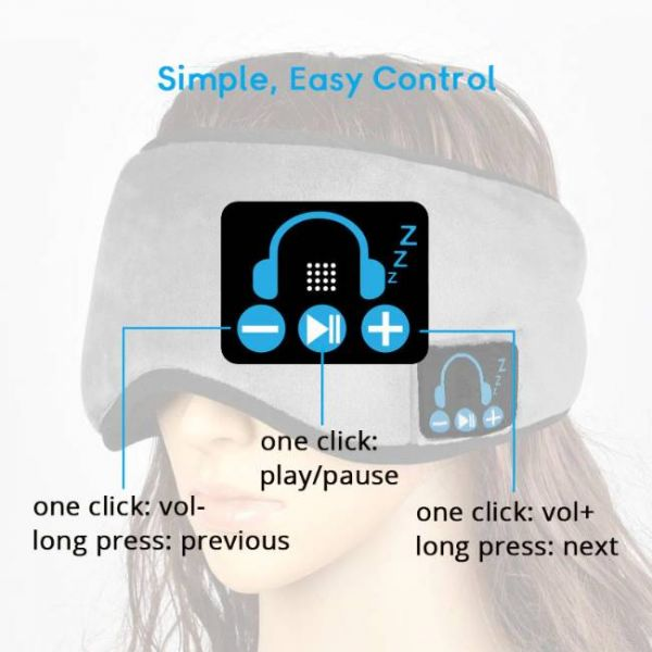 wireless sleeping eye mask with music - Functions of buttons