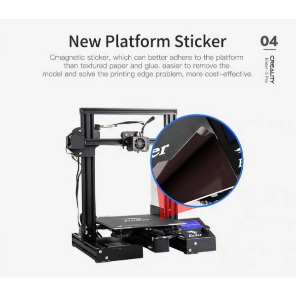Creality fast and high precision 3d printer and new platform sticker