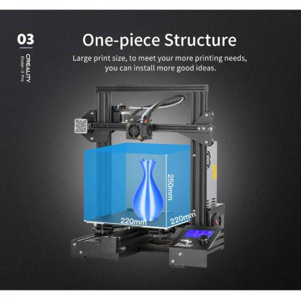 Creality fast and high precision 3d printer with one piece structure