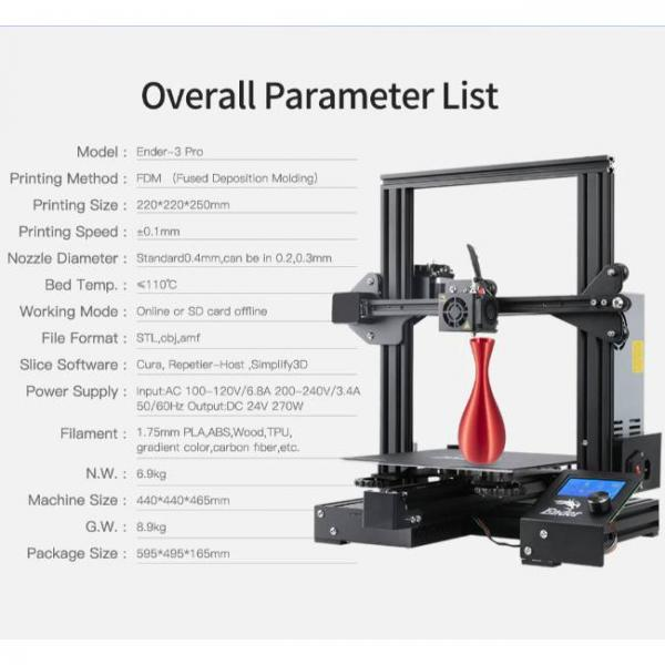Creality fast and high precision 3d printer with multiple parameters