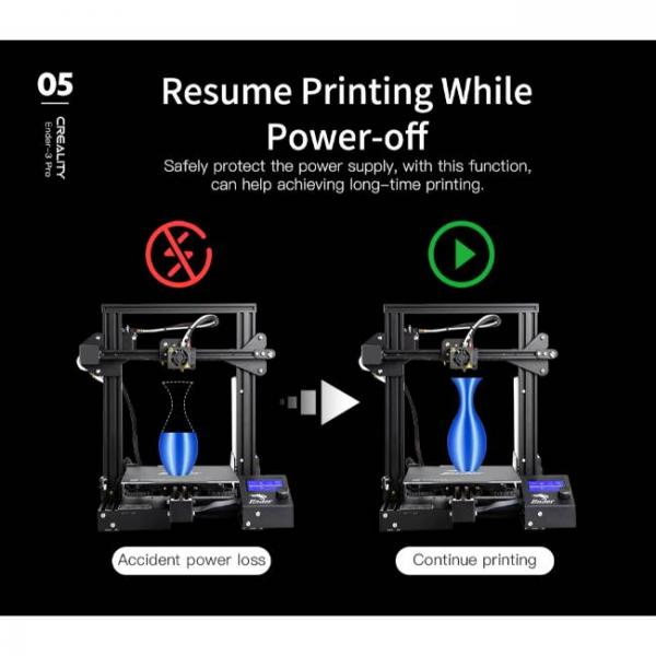 Creality fast and high precision 3d printer with resume printing function