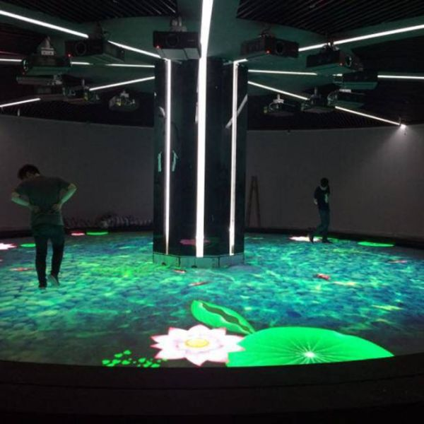 intelligent interactive floor with move sensor for clubs and restaurants