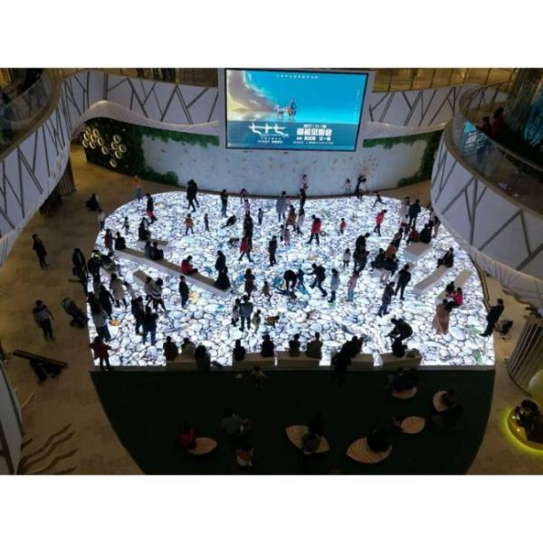 intelligent interactive floor with move sensor for exhibition centers and malls