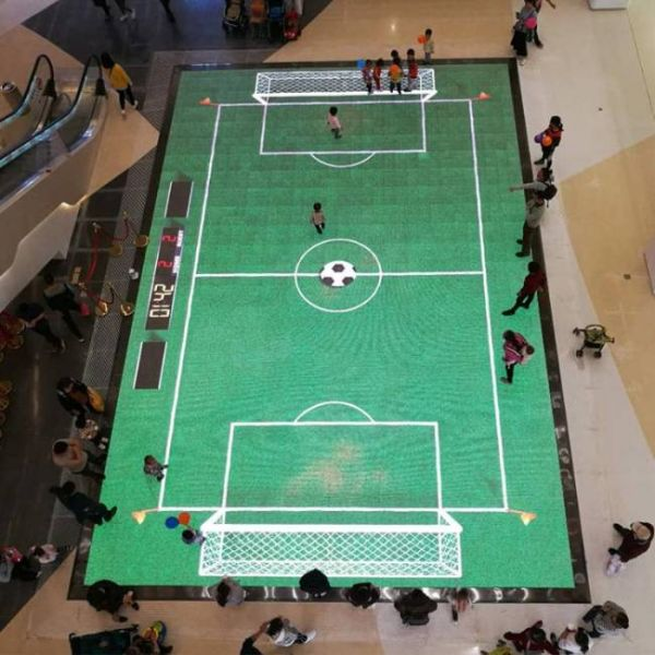 intelligent interactive floor with move sensor for soccer