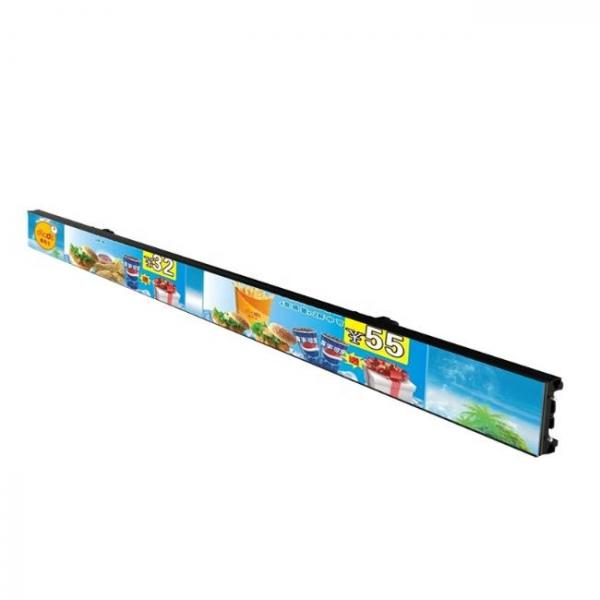 thin digital singage screen for shelves of stores