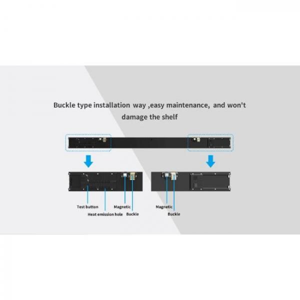 thin digital singage screen for shelves of stores with easy maintenance