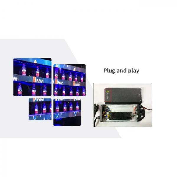 thin digital singage screen for shelves of stores with plug n play