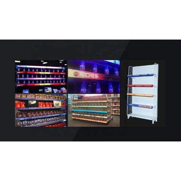 thin digital singage screen for various shelves of stores