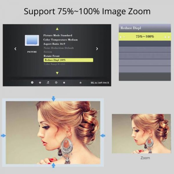 T6 LED projector with high brightness and high image zoom