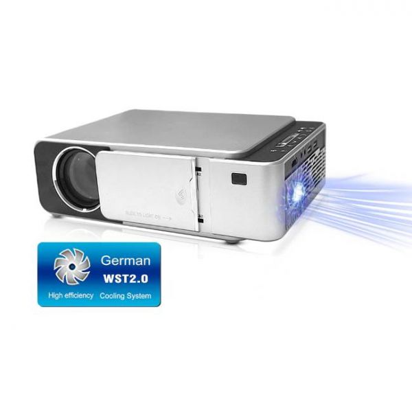 T6 LED projector with high brightness and efficient cooling system