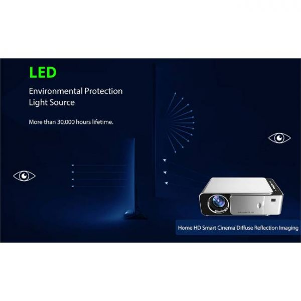 T6 LED projector with high brightness and 30,000 hours of LED