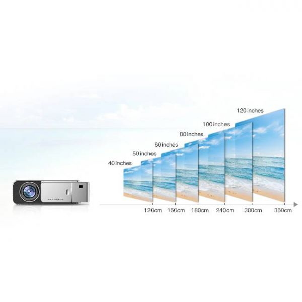 T6 LED projector with high brightness and large projection distance