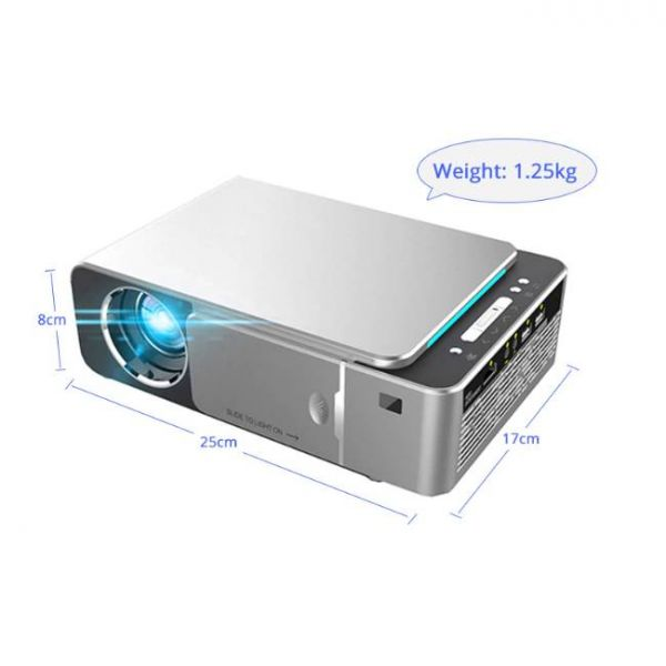 T6 LED projector with high brightness , portable and light-weight