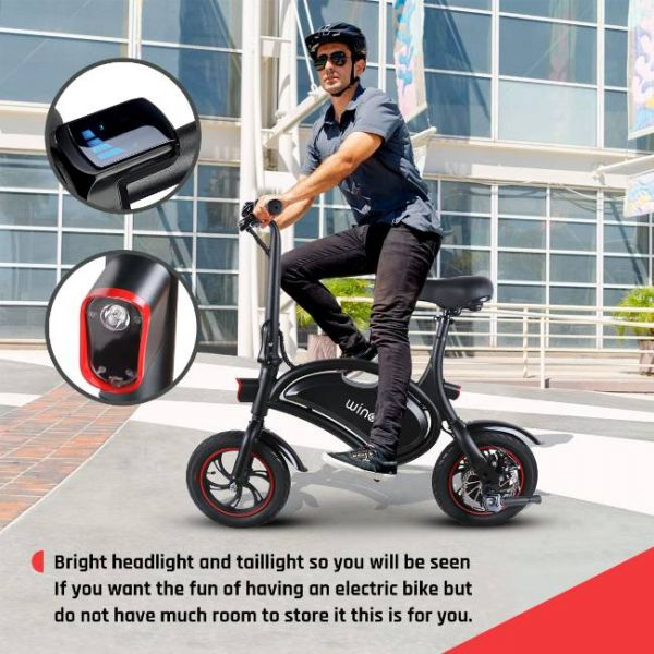 Easy foldable electric bike with bright headlight