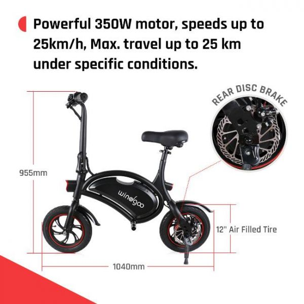 Easy foldable electric bike with durable disk brakes