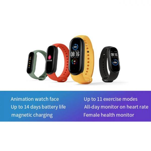 Xiaomi Mi Band 5 health smart watch with multiple functions