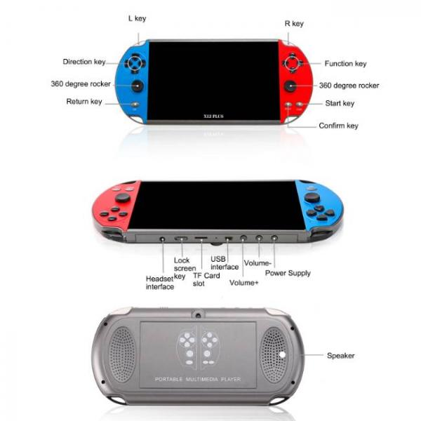 powerful handheld game console that supports PS1 and SNES games with smooth buttons