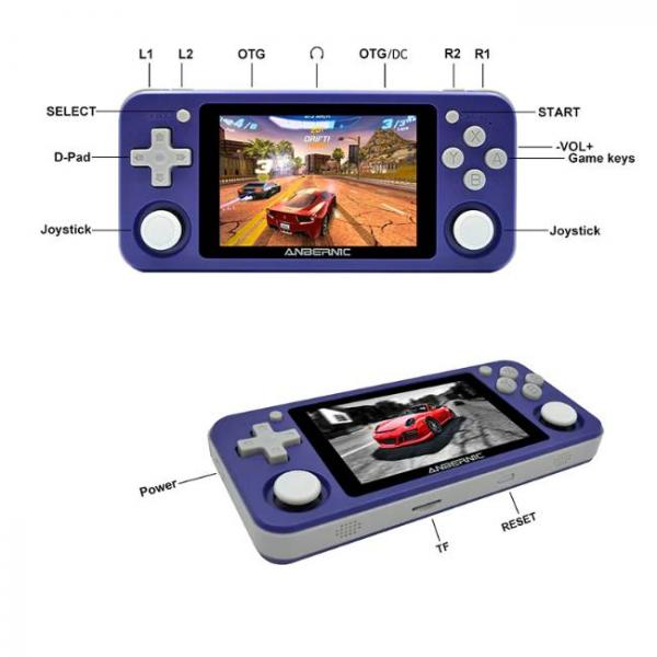 portable game console with PS1 and N64 games and multiple buttons