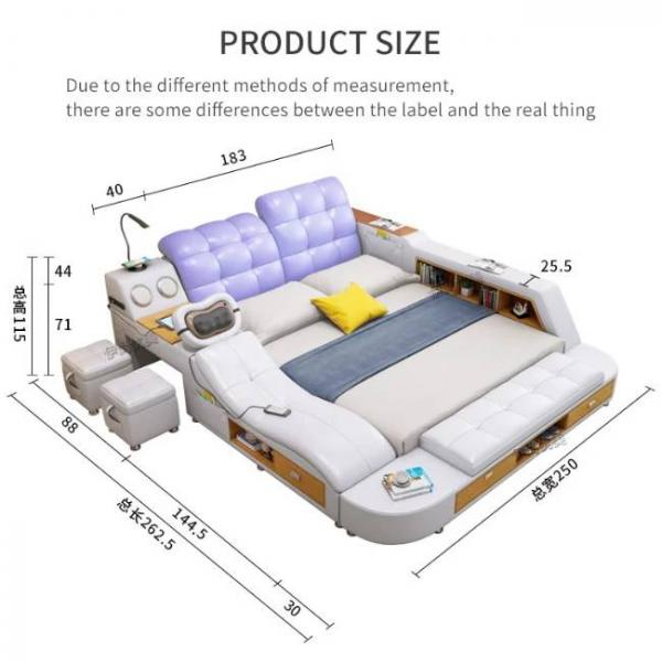 intelligent massage bed with multiple functions - Product Size