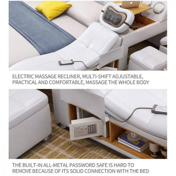 intelligent massage bed with multiple functions and integrated metal safe