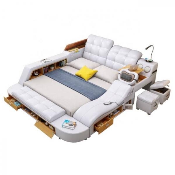 intelligent massage white bed with multiple functions