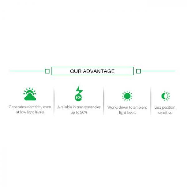 transparent solar panel film with high absorption and many advantages