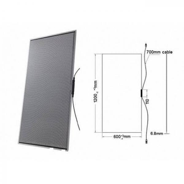 transparent solar panel film with high absorption - product size