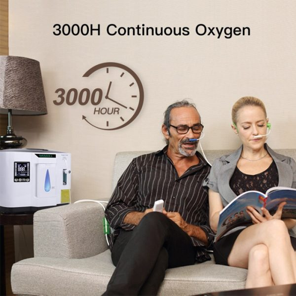 Adjustable Air Purifier portable Oxygen Home Concentrator Machine with 3000 hour of continuous oxygen
