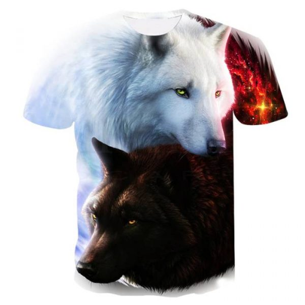 Wolves 3d printed t-shirt in low price