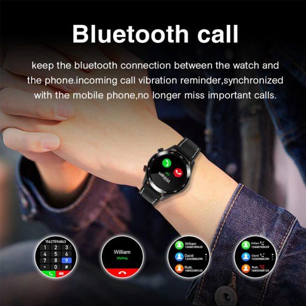 full waterproof sport smart watch with bluetooth calls