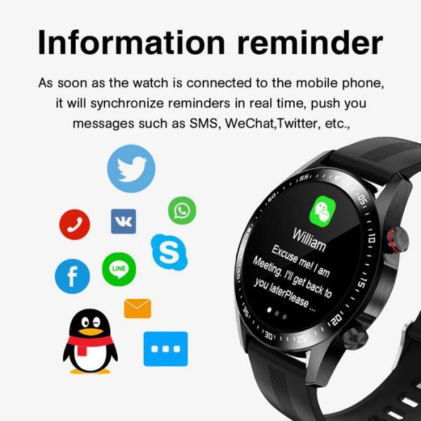 full waterproof sport smart watch with information reminder