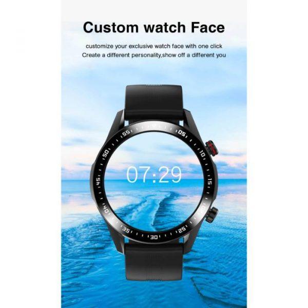full waterproof sport smart watch with custom watch face