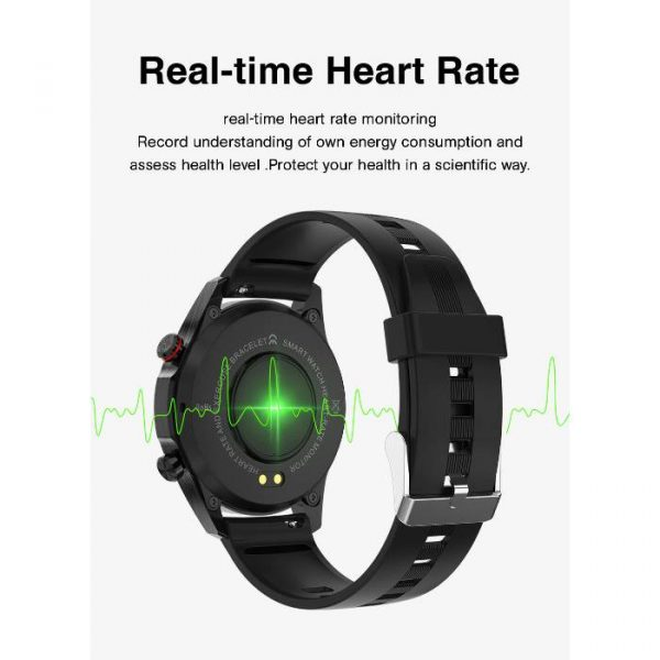 full waterproof sport smart watch with real-time heart rate