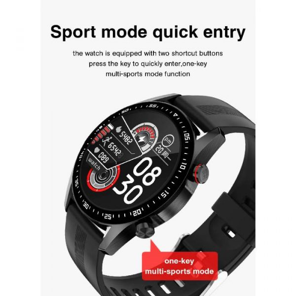 full waterproof sport smart watch with quick entry to sports mode