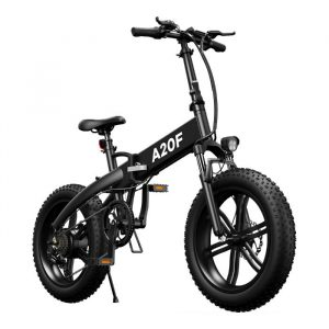 black electric bike with big tires and high mileage